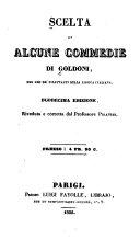 Scelta di alcune commedie di Goldoni