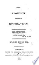 Some Thoughts Concerning Education A New Edition