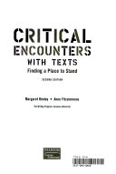 Critical Encounters With Texts