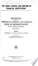 The Credit Crunch and Reform of Financial Institutions