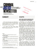 Criminal Justice Newsletter