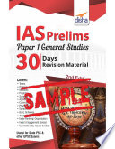 Free Sample Ias Prelims Paper 1 General Studies 30 Days Revision Material 2nd Edition
