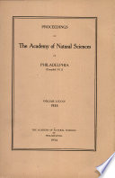 Proceedings of The Academy of Natural Sciences  Vol  LXXXV  1933