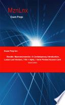 Exam Prep for: Bundle; Macroeconomics; A Contemporary ...