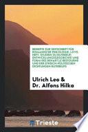 Beihefte zur Zeitschrift für Romanische Philologie. LXVII. Heft. Studien zu Rutebeuf