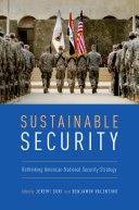 Sustainable Security Pdf/ePub eBook