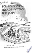 Soil conserving Tillage Systems for Corn