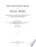 The Beginner's Book of Vocal Music
