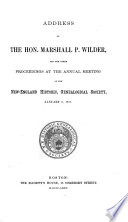 Proceedings Of The New England Historic Genealogical Society