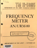 Frequency Meter AN/URM-80