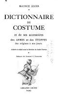 Dictionnaire du costume et de ses accessoires