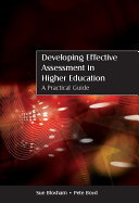 EBOOK  Developing Effective Assessment in Higher Education  A Practical Guide