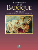 Masters Series  Easy Solos by the Baroque Masters