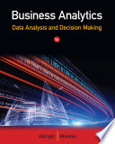 Business Analytics  Data Analysis   Decision Making Book