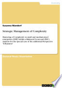 Strategic Management of Complexity