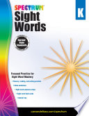Spectrum Sight Words  Grade K
