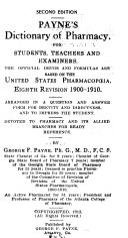 Payne s Dictionary of Pharmacy