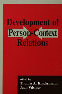 Development of Person-context Relations