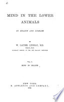 Mind in the Lower Animals  in Health and Disease