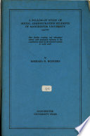 A Follow-Up Study of Social Administration Students of Manchester University 1940-60