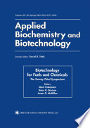 Biotechnology for Fuels and Chemicals Book