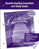 United States Government, Democracy in Action, Spanish Reading Essentials and Study Guide, Workbook
