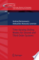 Time Varying Sliding Modes for Second and Third Order Systems