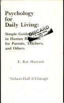 Psychology For Daily Living Book PDF