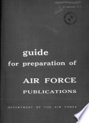 Guide For Preparation Of Air Force Publications