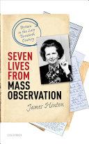 Seven Lives from Mass Observation Pdf/ePub eBook