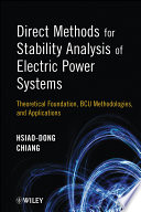 Direct Methods for Stability Analysis of Electric Power Systems Book