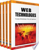 Web Technologies  : Concepts, Methodologies, Tools, and Applications