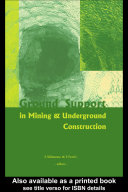 Ground Support in Mining and Underground Construction [Pdf/ePub] eBook