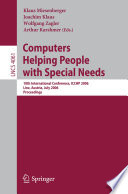 Computers Helping People With Special Needs Book