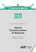 OCM 2015   Optical Characterization of Materials   conference proceedings