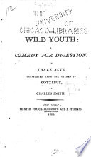 The Wild Youth  Book