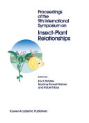 Proceedings of the 9th International Symposium on Insect Plant Relationships