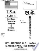 Meeting Of The United States Japan Cooperative Program In Natural Resources Ujnr Panel On Marine Facilities