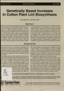 Research Report Mississippi Agricultural Forestry Experiment Station