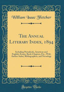 The Annual Literary Index 1894