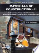 MATERIALS OF CONSTRUCTION - II