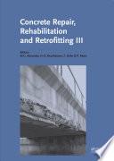 Concrete Repair  Rehabilitation and Retrofitting III