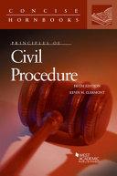 Principles of Civil Procedure