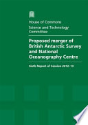 Proposed Merger Of British Antarctic Survey And National Oceanography Centre Book PDF