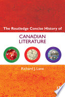 The Routledge Concise History of Canadian Literature Book