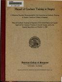 Manual of Graduate Training in Surgery
