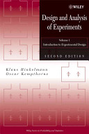 Design and Analysis of Experiments  Introduction to Experimental Design