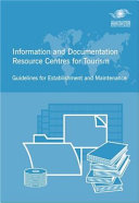 Information And Documentation Resource Centres For Tourism Book PDF