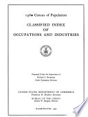 Census of Population, 1960: Classified Index of Occupations and Industries