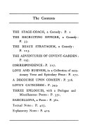 The stagecoach  The recruiting officer  The beaux stratagem  The adventures of Covent Garden  Correspondence  Love and business in a collection of occasionary verse and epistolary prose  A discourse upon comedy  Love s catechism  Three epilogues